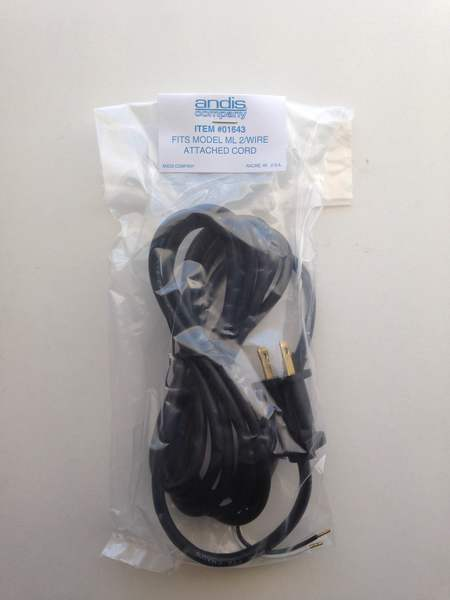 picture of ml 2 wire attached cord in a plastic bag